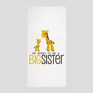 I'm going to be a big sister Beach Towel