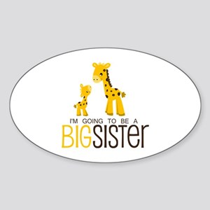 I'm going to be a big sister Sticker (Oval)