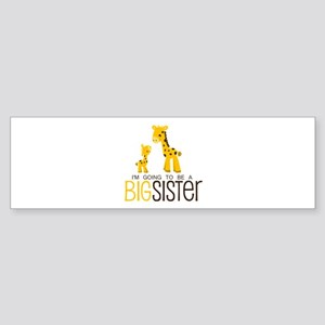I'm going to be a big sister Sticker (Bumper)