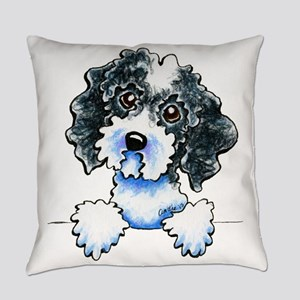 Black Parti Cockapoo Lined Everyday Pillow