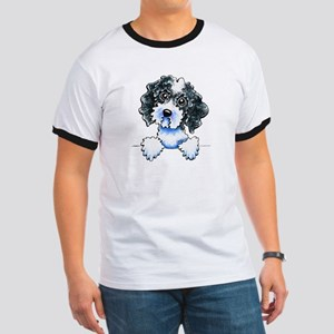 Black Parti Cockapoo Lined T-Shirt