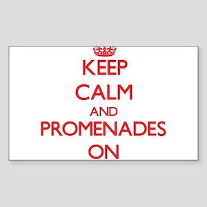Keep Calm and Promenades ON Sticker