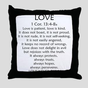 1Cor.13 Love Throw Pillow