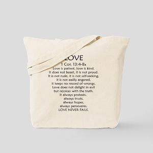 1Cor.13 Love Tote Bag
