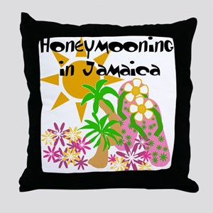 Honeymoon Jamaica Throw Pillow