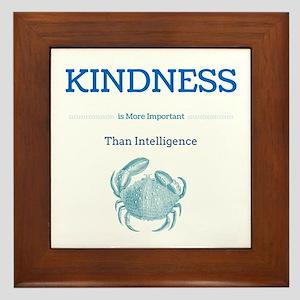 kindness crab Framed Tile