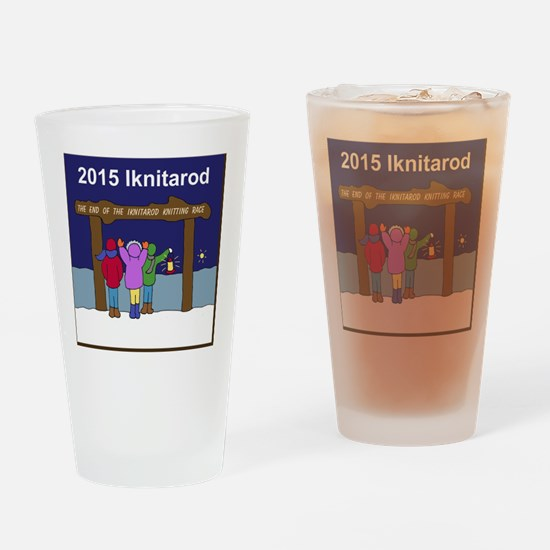 Iknitarod 2015 Drinking Glass