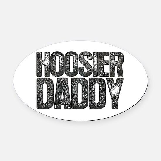 Hoosier Daddy Oval Car Magnet