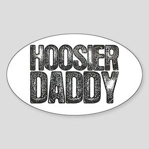 Hoosier Daddy Oval Sticker