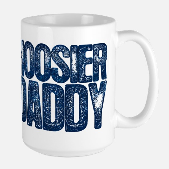 Blue Hoosier Daddy Large Mug
