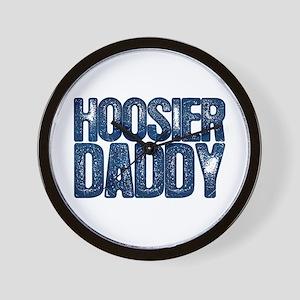 Blue Hoosier Daddy Wall Clock