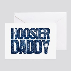Blue Hoosier Daddy Greeting Card