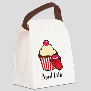 Cake and Cunnilingus Day Canvas Lunch Bag