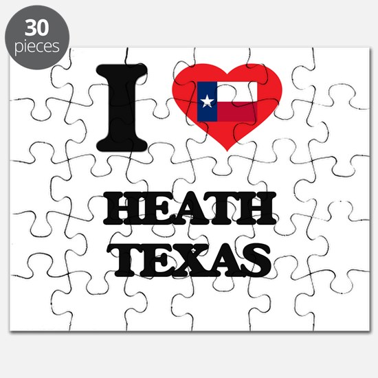 I love Heath Texas Puzzle