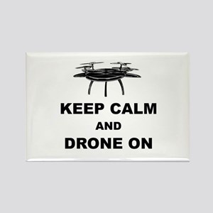 Keep Calm and Drone On Rectangle Magnet