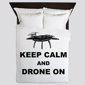 Keep Calm and Drone On Queen Duvet