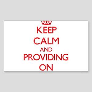 Keep Calm and Providing ON Sticker