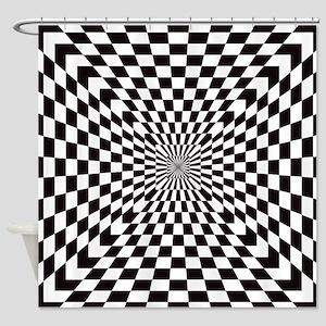 Optical Checks Shower Curtain