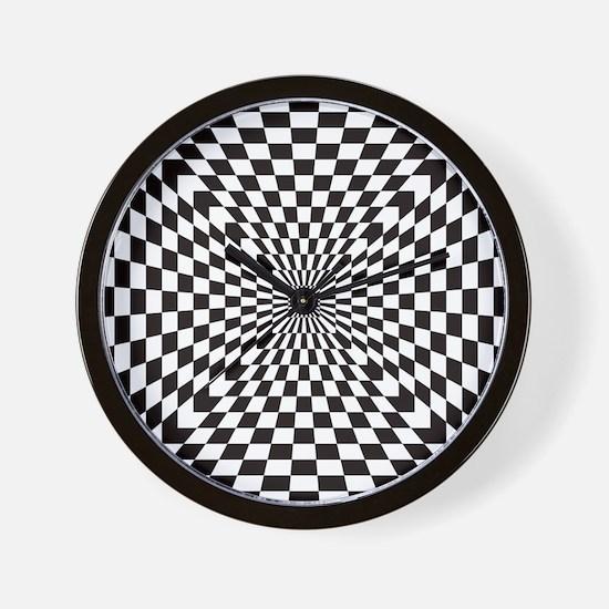 Optical Checks Wall Clock