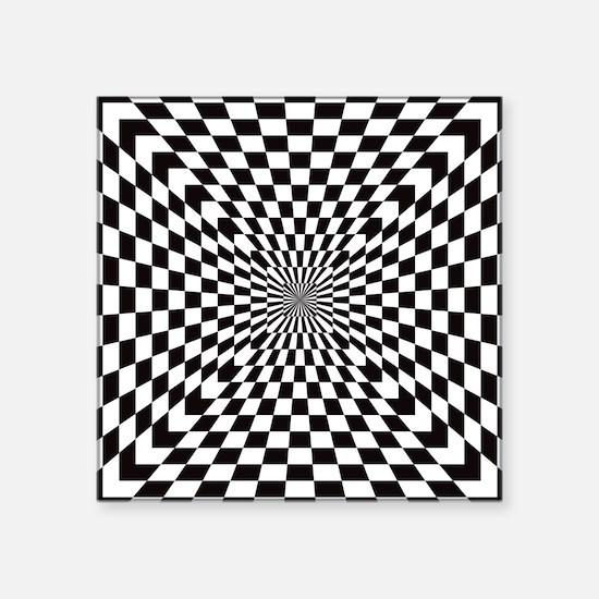 """Optical Checks Square Sticker 3"""" x 3"""""""