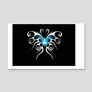 AA white butterfly Rectangle Car Magnet