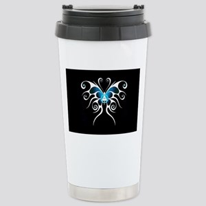 AA white butterfly Stainless Steel Travel Mug