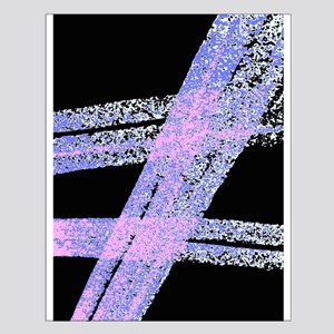 Abstract Slashes On Black Posters Small Poster