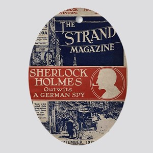 sherlock holmes cover art Oval Ornament