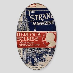 sherlock holmes cover art Sticker (Oval)