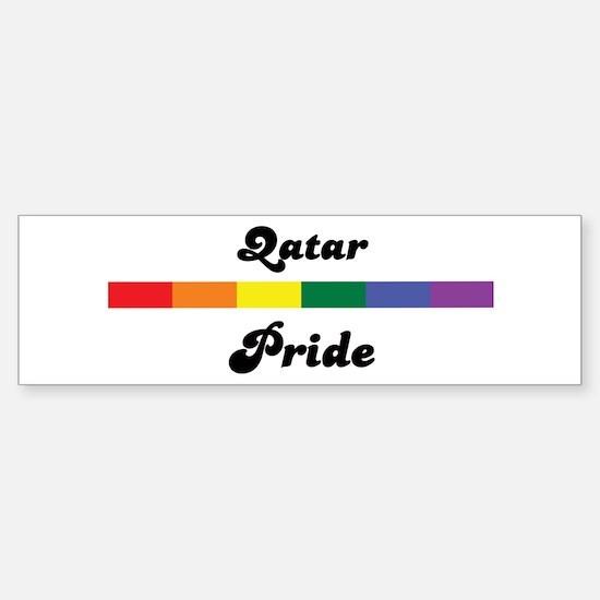 Qatar pride Bumper Bumper Bumper Sticker