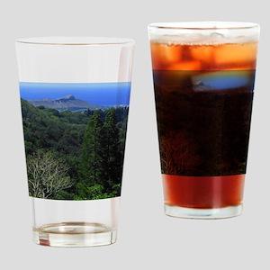 Diamond Head Drinking Glass