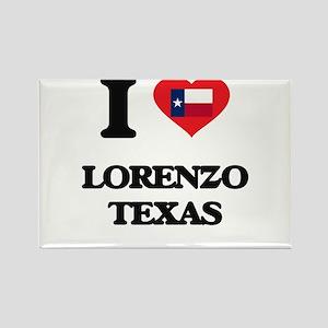 I love Lorenzo Texas Magnets