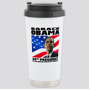 44 Obama Stainless Steel Travel Mug