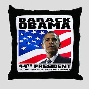 44 Obama Throw Pillow
