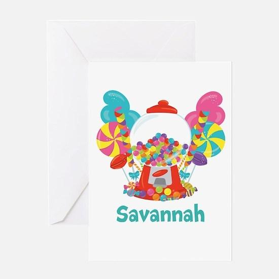 Custom Name Candyland Birthday Greeting Cards