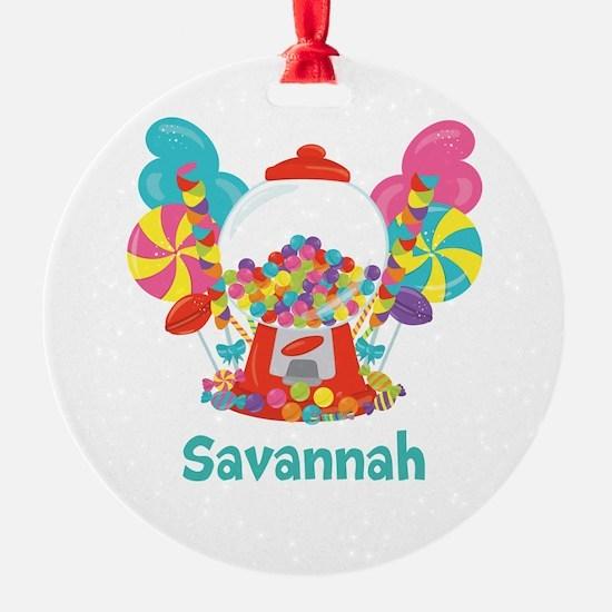 Custom Name Candyland Birthday Ornament