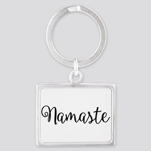 Namaste Script Keychains