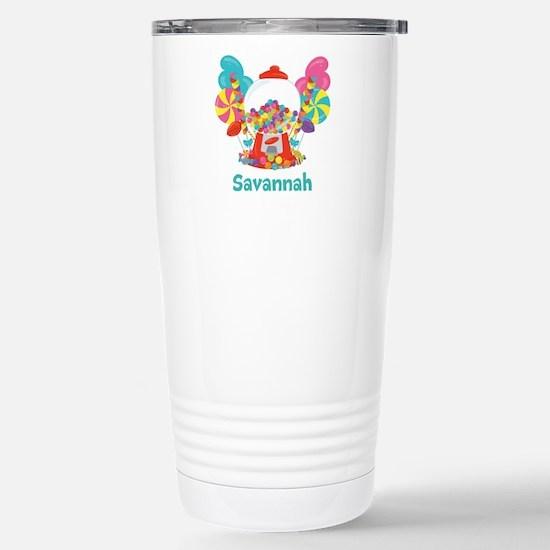 Custom Name Candyland Birthday Travel Mug