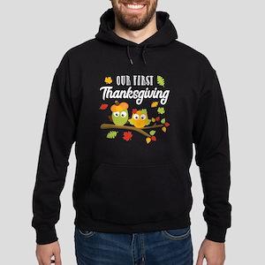 Our First Thanksgiving Hoodie (dark)