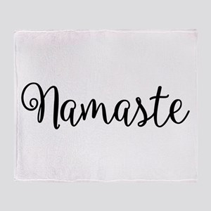 Namaste Script Throw Blanket