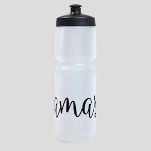 Namaste Script Sports Bottle