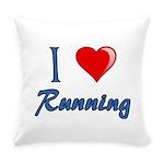 I Heart Running Everyday Pillow