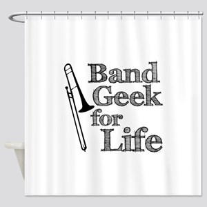 Trombone Band Geek Shower Curtain