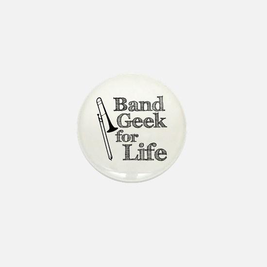 Trombone Band Geek Mini Button
