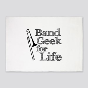 Trombone Band Geek 5'x7'Area Rug