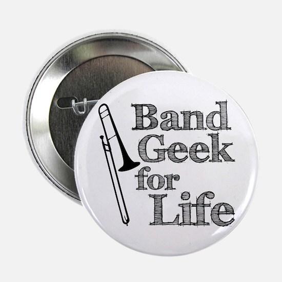 """Trombone Band Geek 2.25"""" Button"""