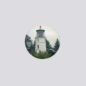 Umpqua River Light with Trees Mini Button