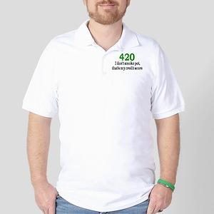 420 Credit Score Golf Shirt