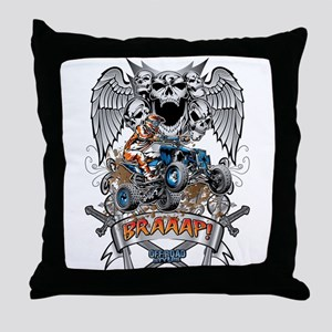 ATV Quad Heraldic Braaap Throw Pillow