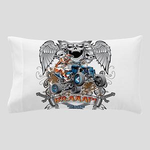 ATV Quad Heraldic Braaap Pillow Case